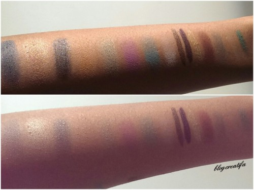 ELF eyeliner eyeshadow cream pigment pencil pressed mineral studio matte swatches before and after