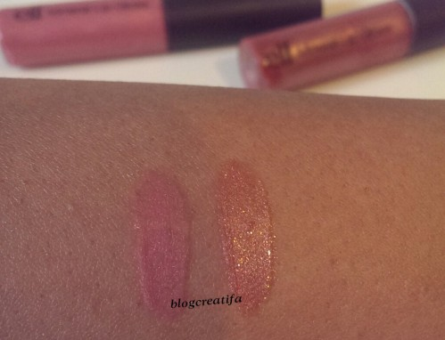 ELF natural mineral makeup mineral lip gloss Sorority Girl Trendsetter review swatch swatches swipe