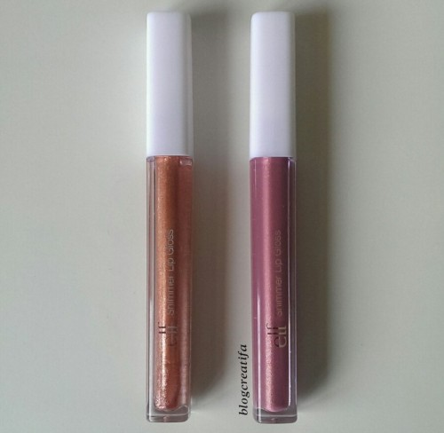 ELF shimmer lip gloss Fantasize Believe review swatch swatches