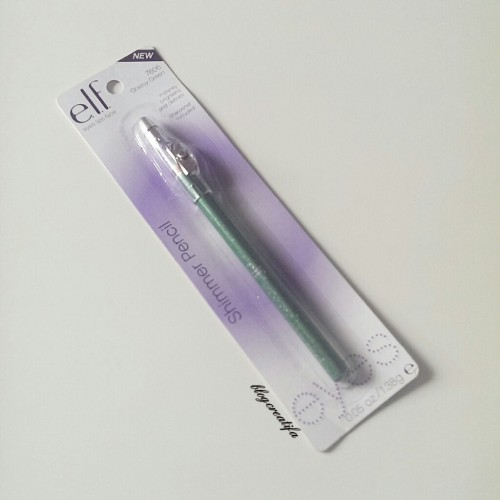ELF shimmer pencil grassy green packaged