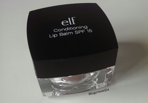 ELF studio conditioning lip balm gloss SPF Bombshell Brown review swatch swatches pot jar