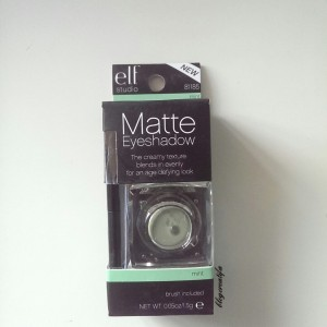 ELF studio matte eyeshadow pigment 81185 mint packaged