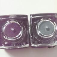ELF studio pigment eyeshadow passionate purple tropical teal