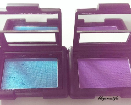 ELF Studio Single Eyeshadow Totally Teal 81133 and Purple Passion 81335