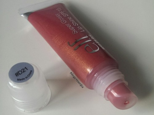 ELF super glossy lip shine gloss mauve luxe swatch swatches review