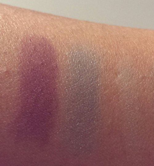 ELF Studio Pigment Matte Eyeshadow swatches passionate purple tropical teal mint green